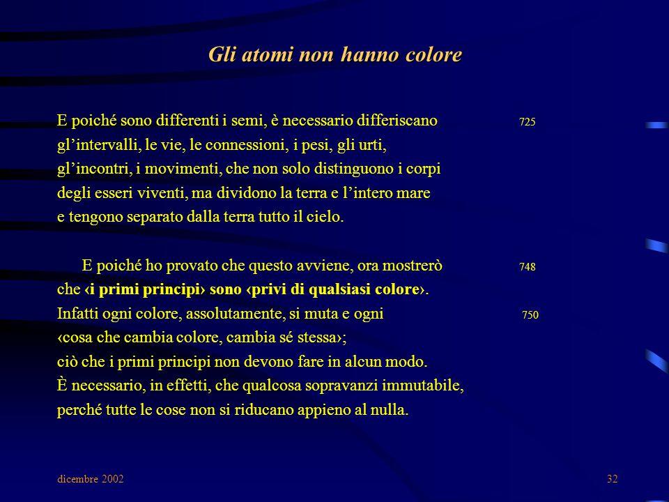 Gli atomi non hanno colore