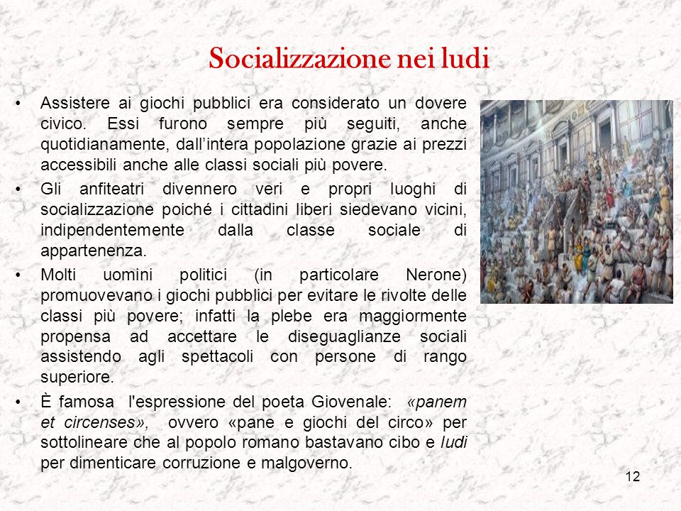 Socializzazione nei ludi