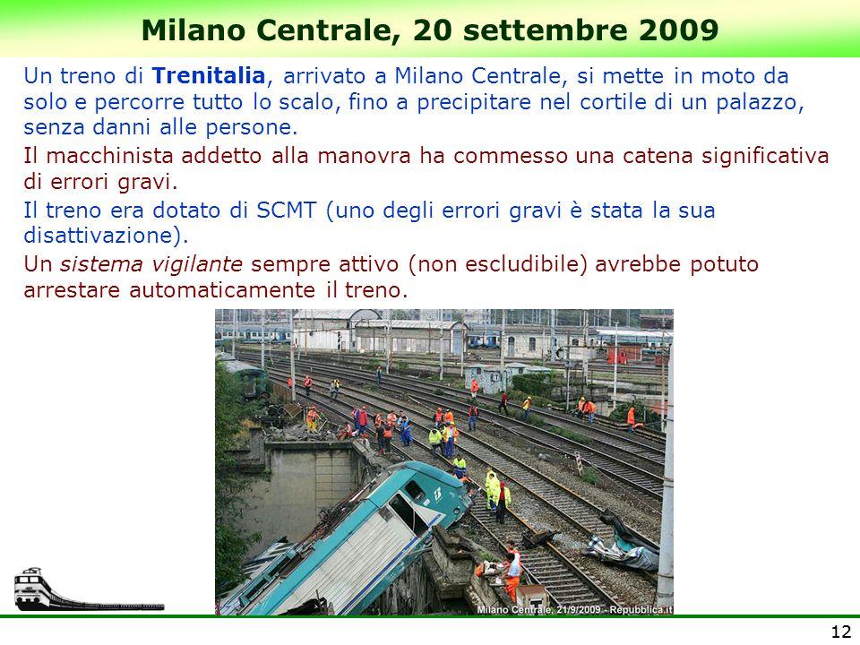 Milano Centrale, 20 settembre 2009