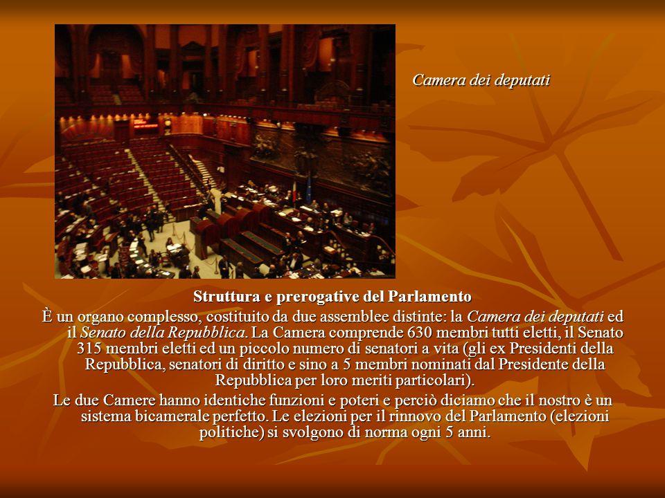Struttura e prerogative del Parlamento