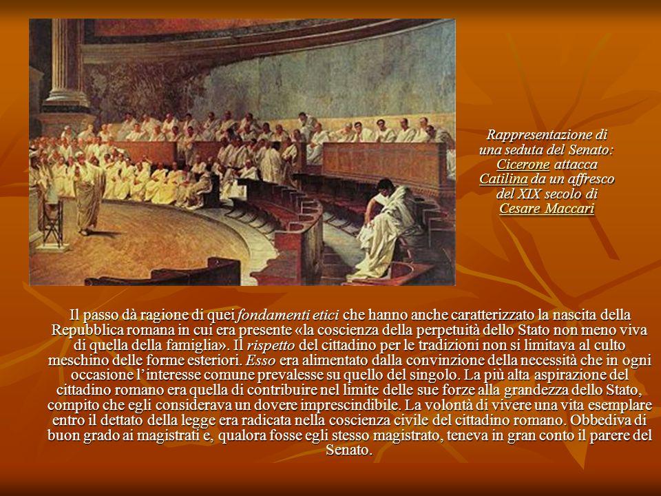 Rappresentazione di una seduta del Senato: Cicerone attacca Catilina da un affresco del XIX secolo di Cesare Maccari