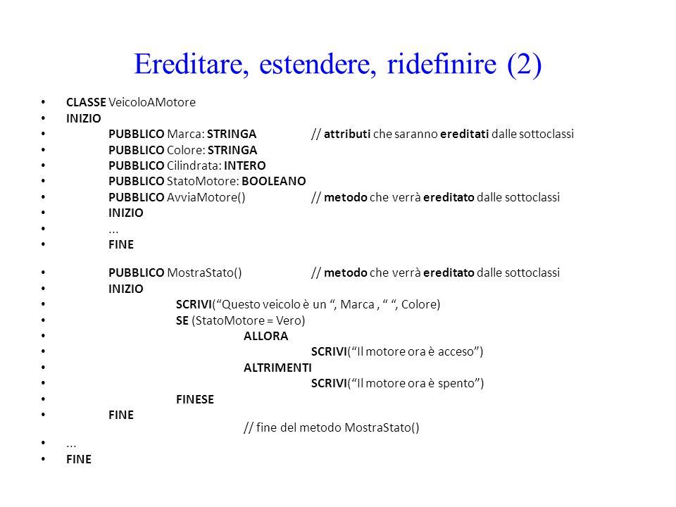 Ereditare, estendere, ridefinire (2)