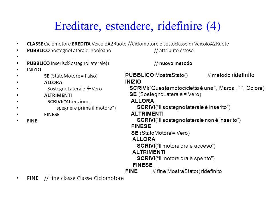 Ereditare, estendere, ridefinire (4)