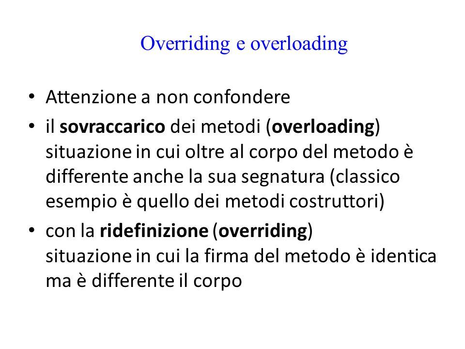 Overriding e overloading