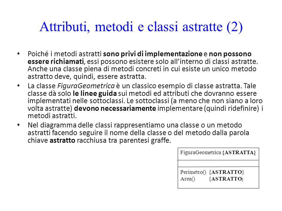 Attributi, metodi e classi astratte (2)