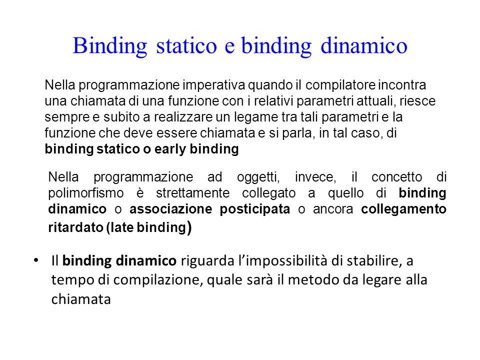 Binding statico e binding dinamico
