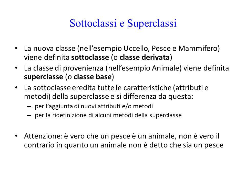 Sottoclassi e Superclassi
