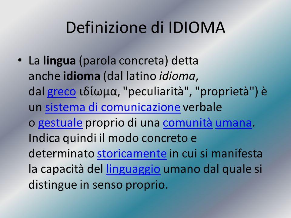 Definizione di IDIOMA