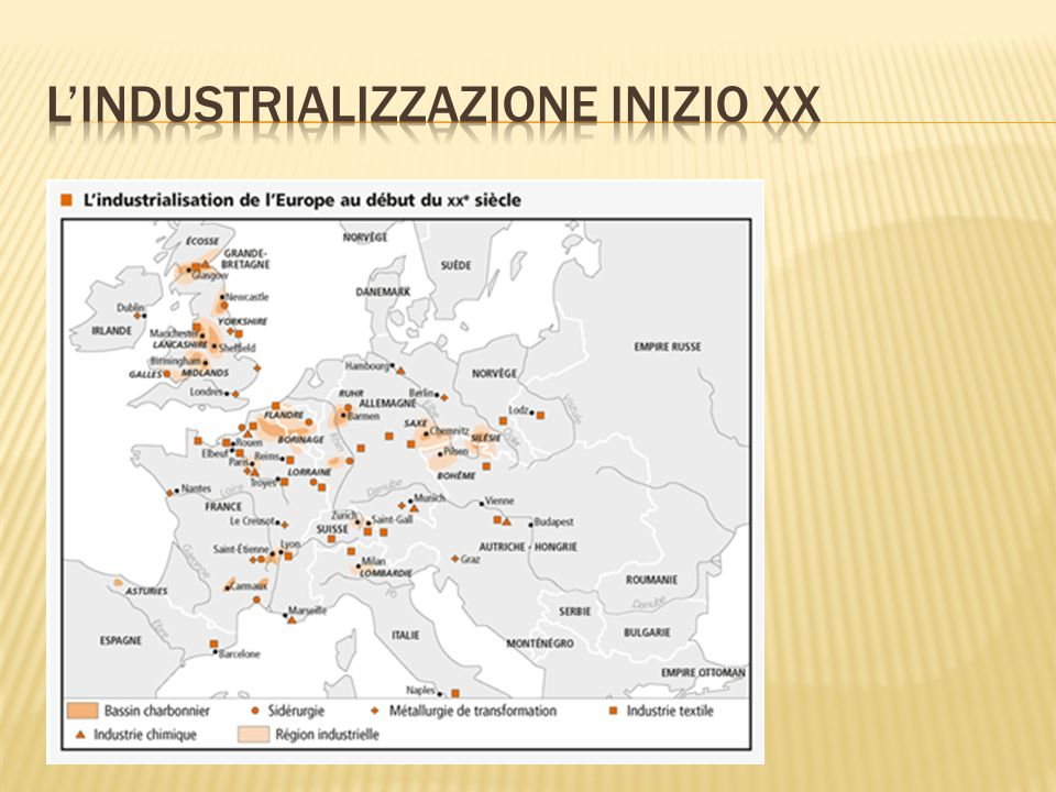 L'industrializzazione inizio XX