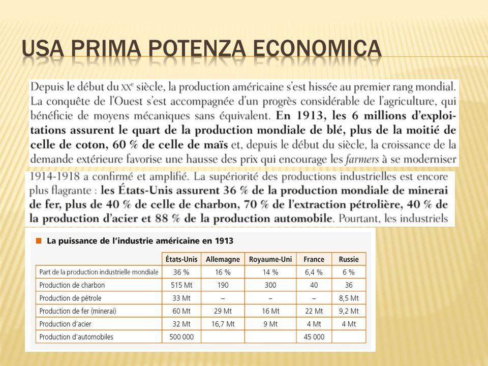 USA prima potenza economica