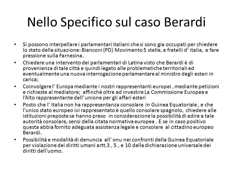 Nello Specifico sul caso Berardi
