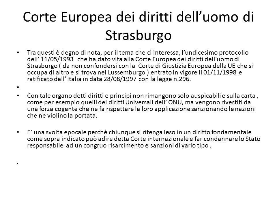 Corte Europea dei diritti dell'uomo di Strasburgo