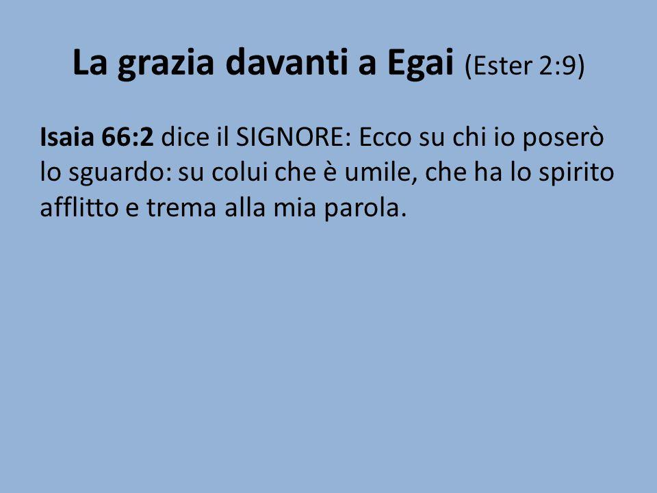 La grazia davanti a Egai (Ester 2:9)