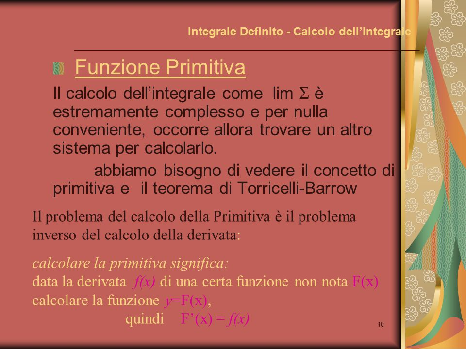 Integrale Definito - Calcolo dell'integrale