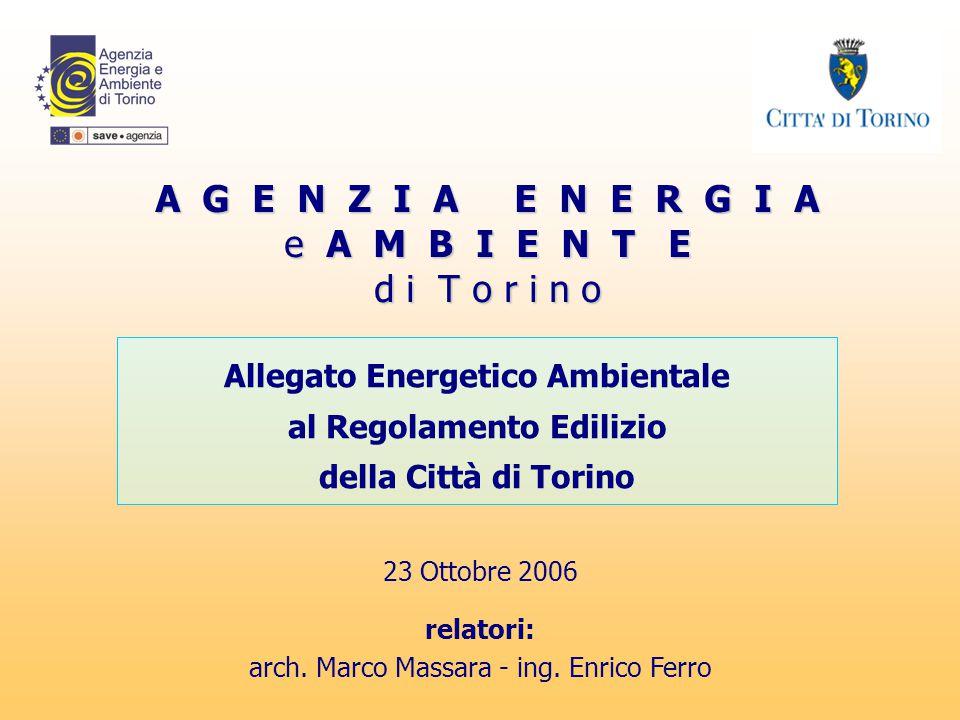 Allegato Energetico Ambientale al Regolamento Edilizio