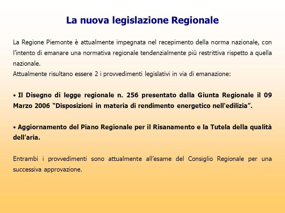 La nuova legislazione Regionale