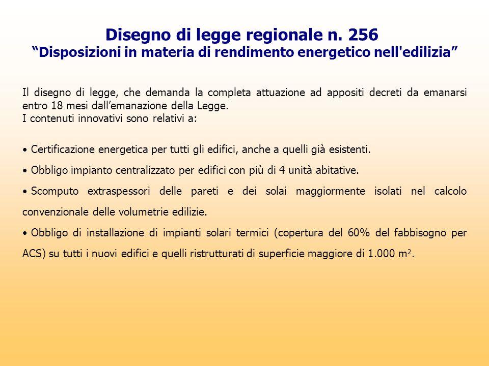 Disegno di legge regionale n. 256