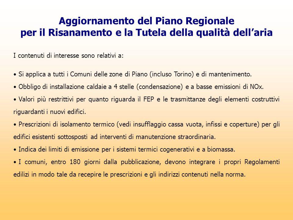 Aggiornamento del Piano Regionale