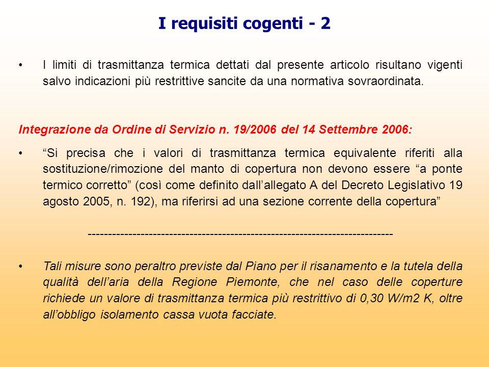 I requisiti cogenti - 2