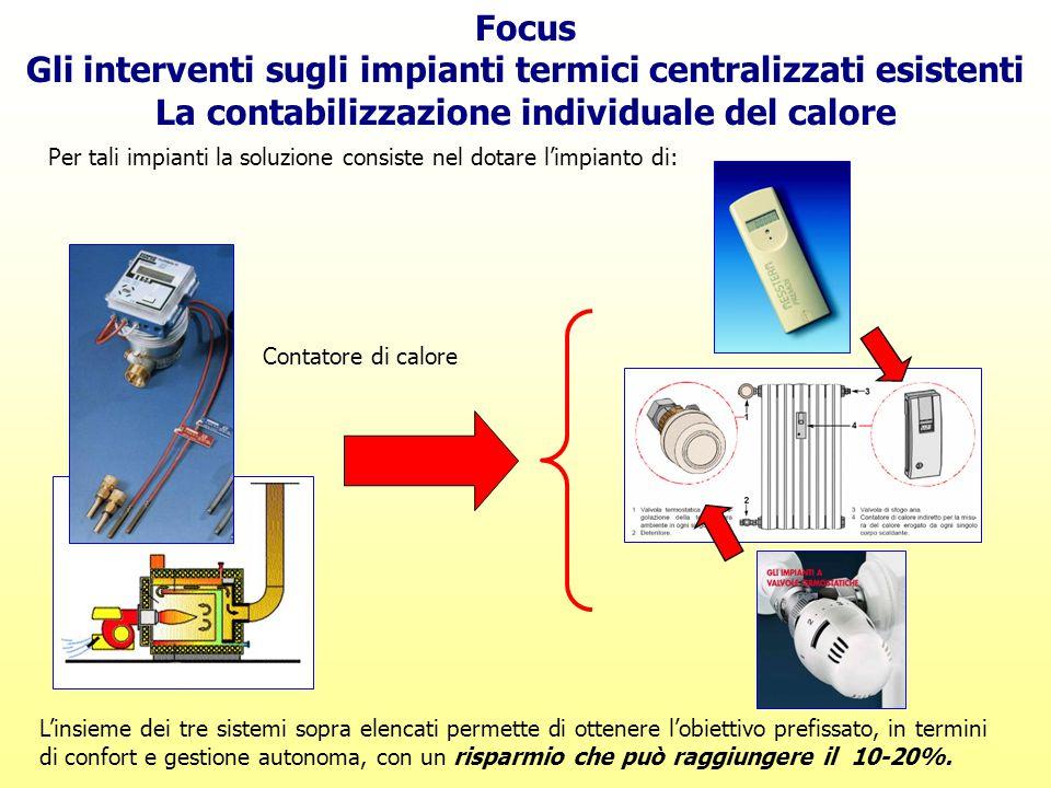 Gli interventi sugli impianti termici centralizzati esistenti
