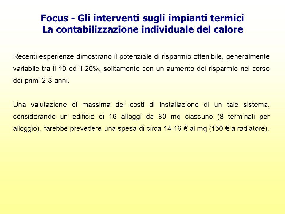 Focus - Gli interventi sugli impianti termici
