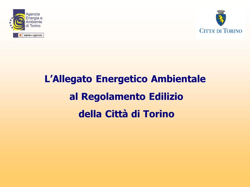 L'Allegato Energetico Ambientale al Regolamento Edilizio