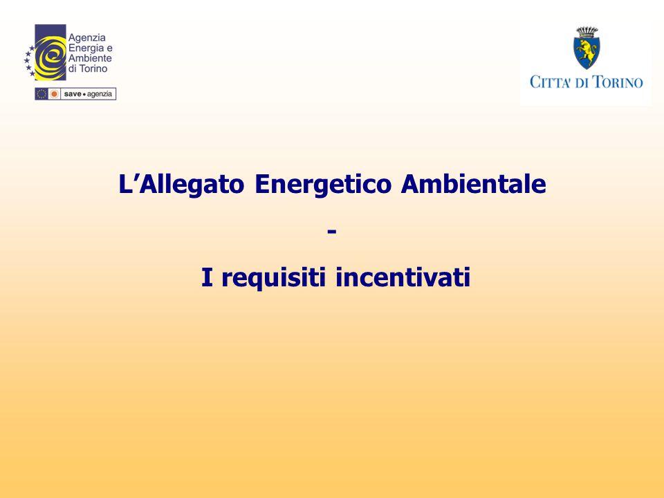 L'Allegato Energetico Ambientale I requisiti incentivati