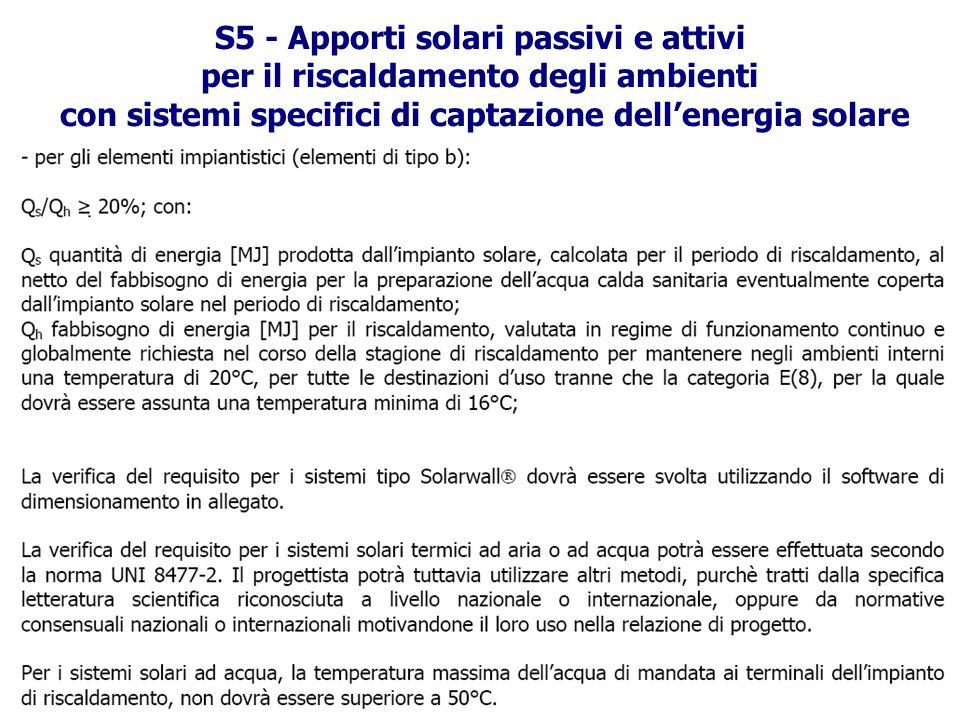 S5 - Apporti solari passivi e attivi