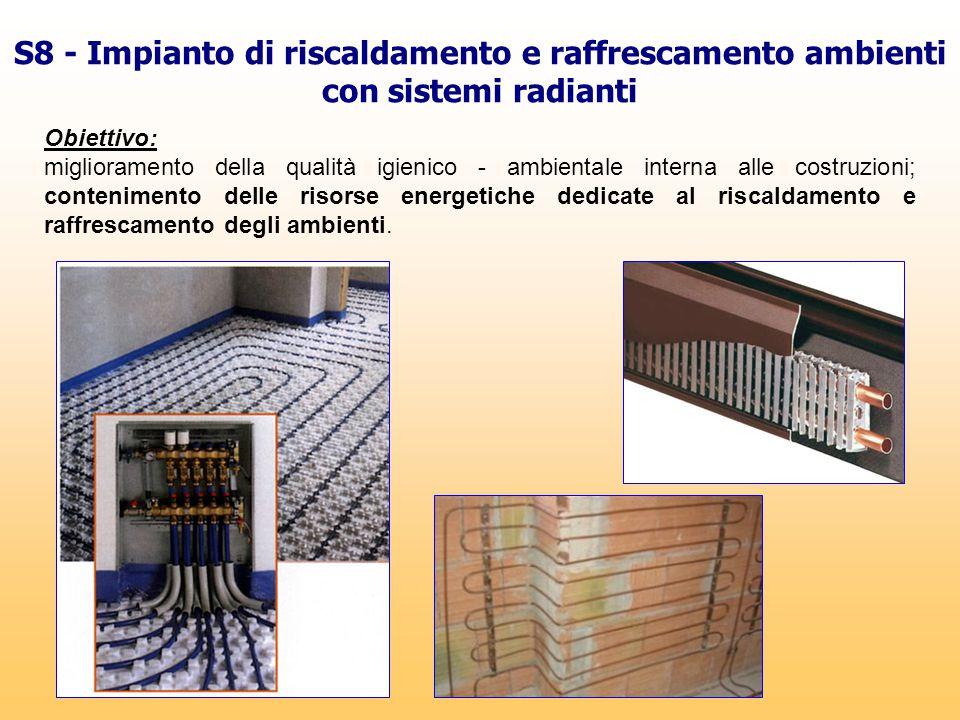 S8 - Impianto di riscaldamento e raffrescamento ambienti con sistemi radianti