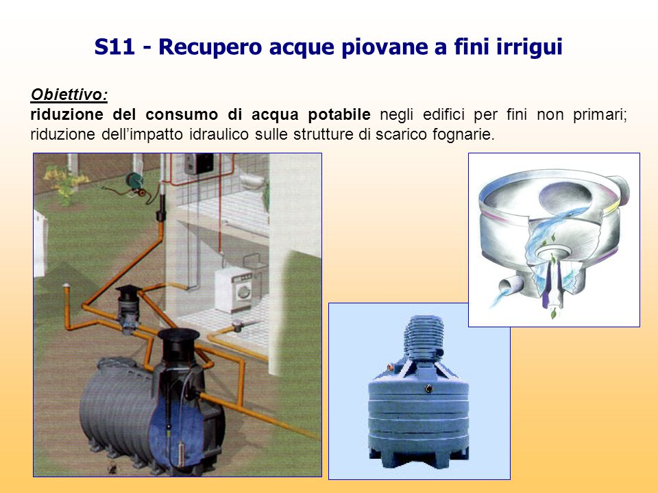 S11 - Recupero acque piovane a fini irrigui