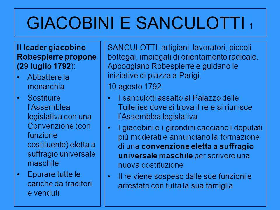 GIACOBINI E SANCULOTTI 1