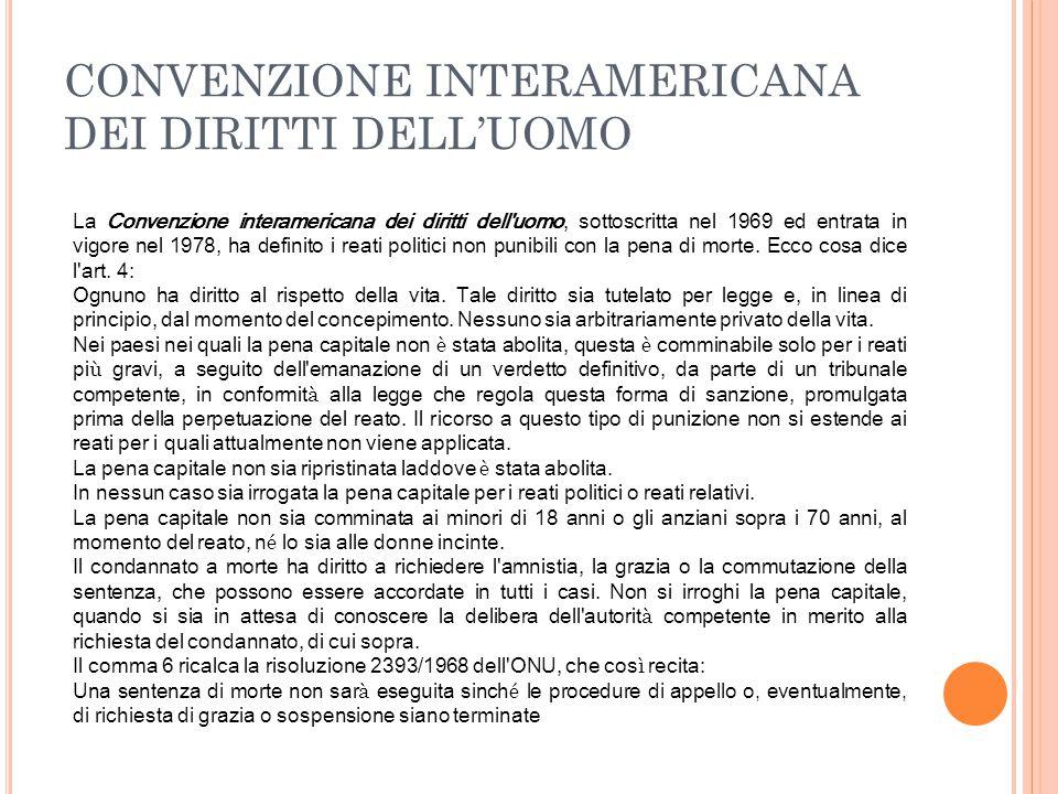 CONVENZIONE INTERAMERICANA DEI DIRITTI DELL'UOMO