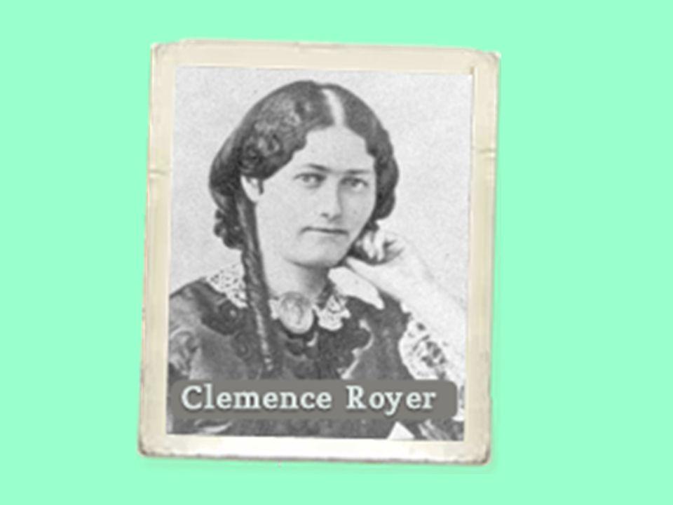 Clemence Royer 1830-1902, scienziata, antropologa e biologa, membro della società antropologica di Parigi.