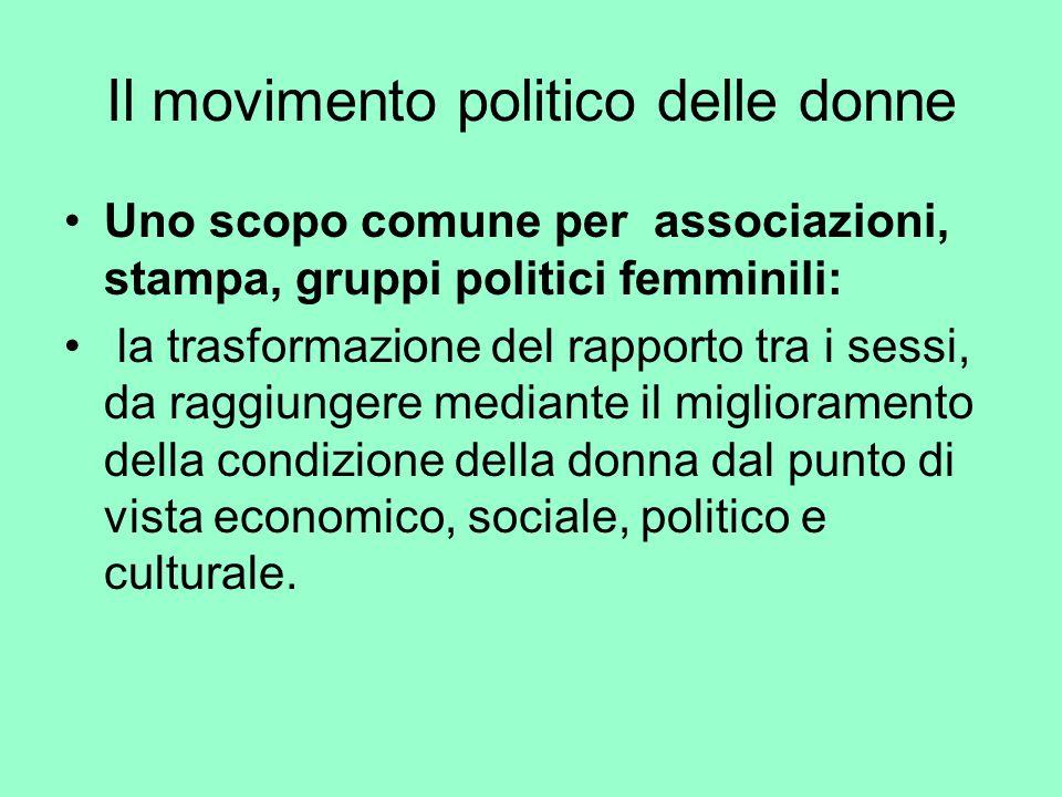 Il movimento politico delle donne