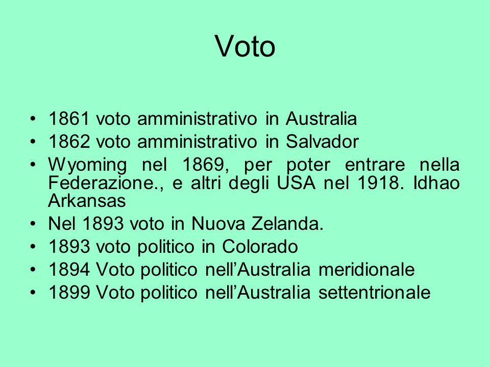 Voto 1861 voto amministrativo in Australia