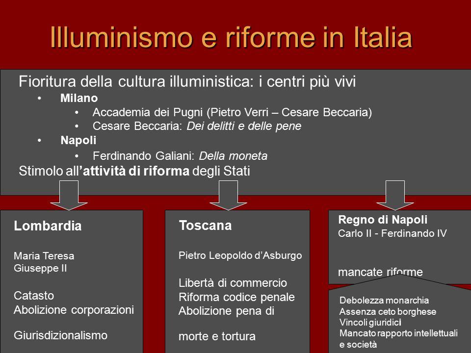 Illuminismo e riforme in Italia