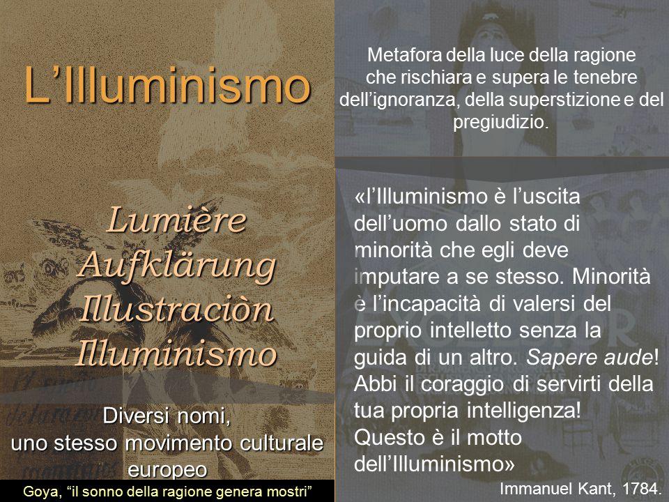L'Illuminismo Lumière Aufklärung Illustraciòn Illuminismo