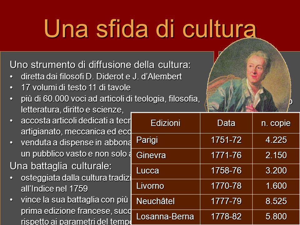 Una sfida di cultura Uno strumento di diffusione della cultura: