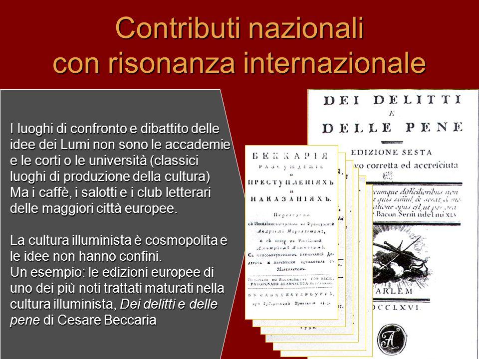 Contributi nazionali con risonanza internazionale