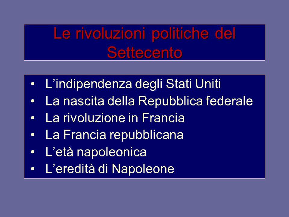 Le rivoluzioni politiche del Settecento