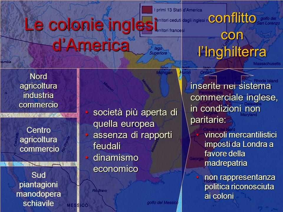 Le colonie inglesi d'America