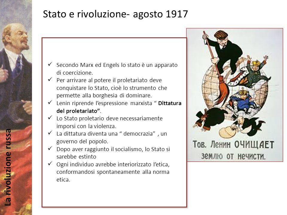 Stato e rivoluzione- agosto 1917