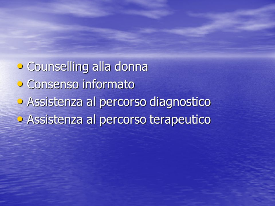 Counselling alla donna