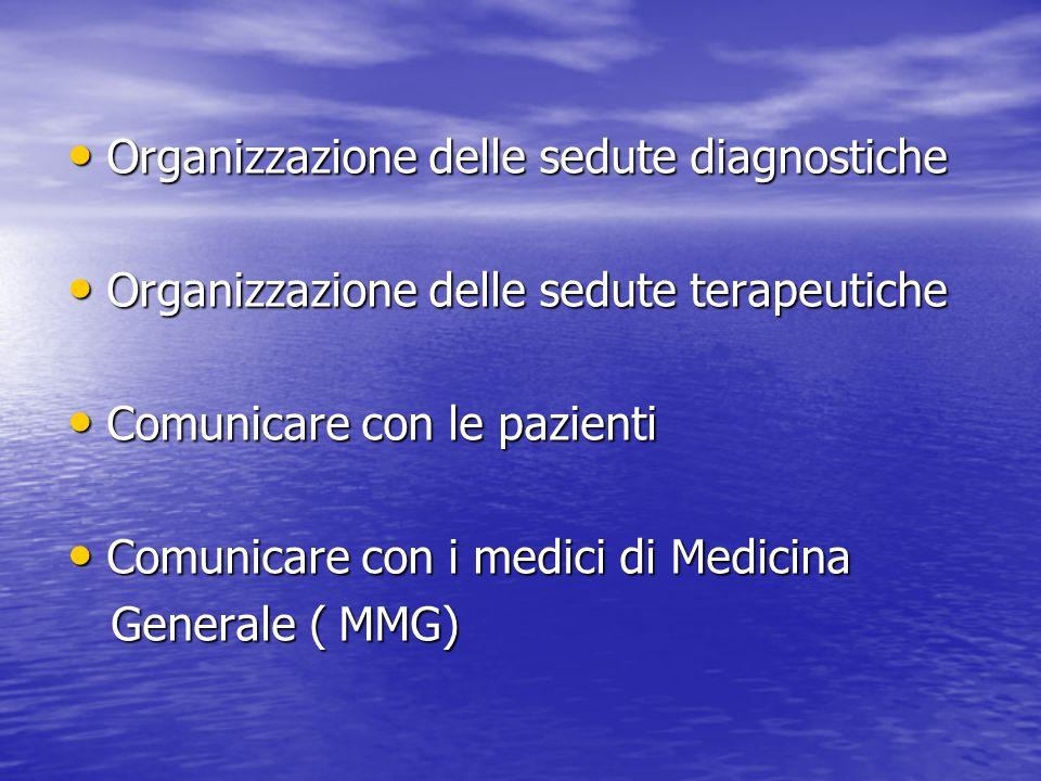 Organizzazione delle sedute diagnostiche
