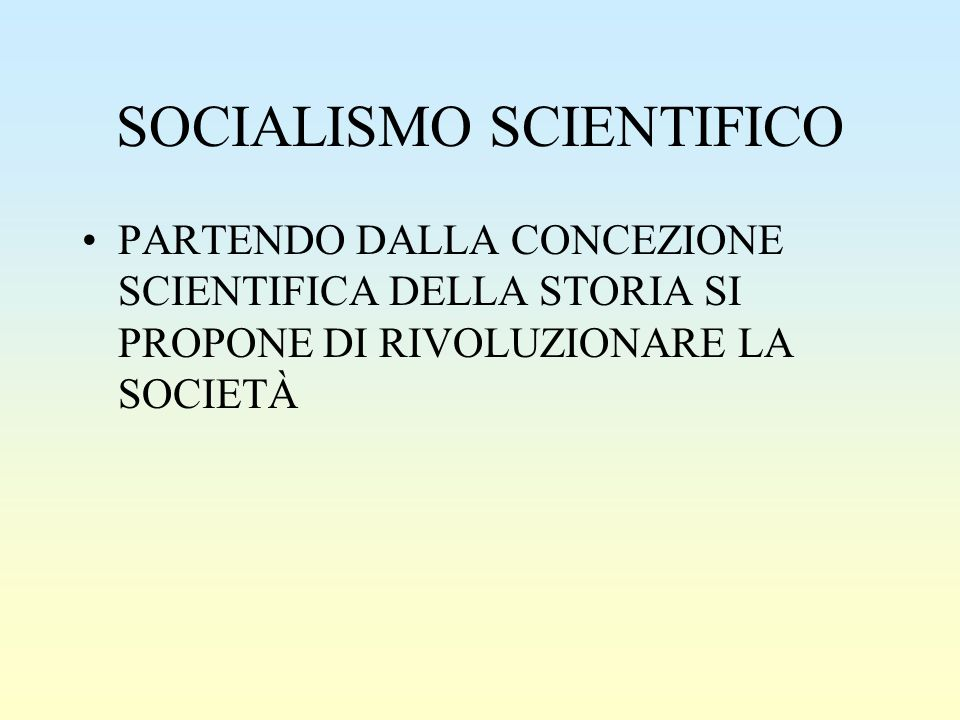 SOCIALISMO SCIENTIFICO