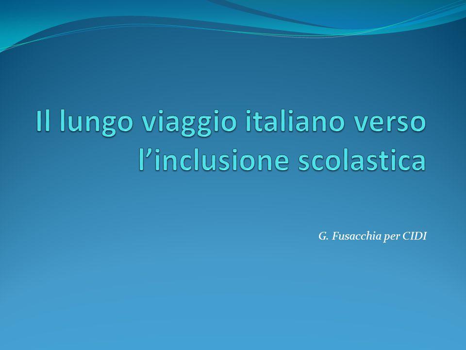 Il lungo viaggio italiano verso l'inclusione scolastica