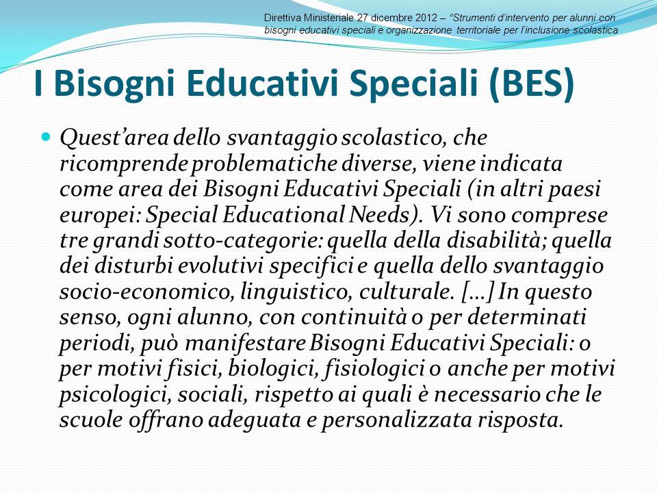 I Bisogni Educativi Speciali (BES)