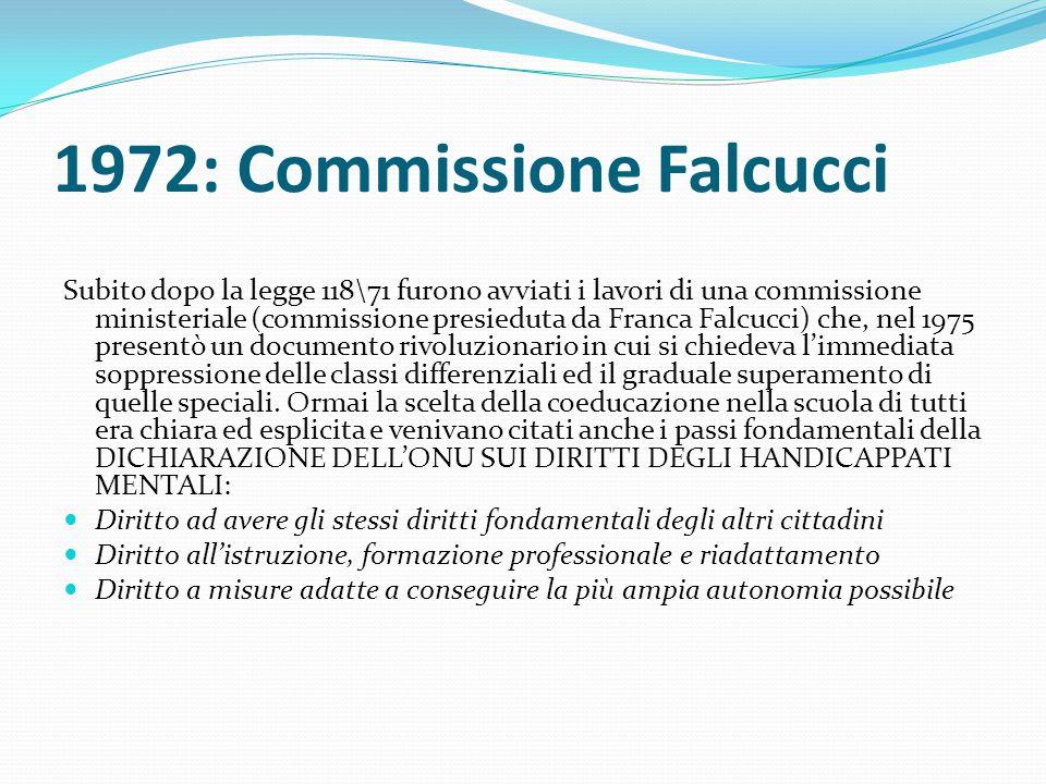 1972: Commissione Falcucci