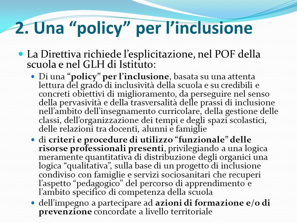 2. Una policy per l'inclusione