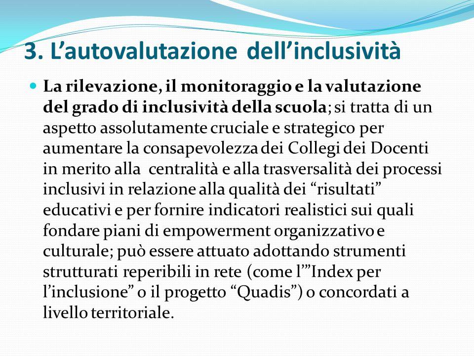 3. L'autovalutazione dell'inclusività